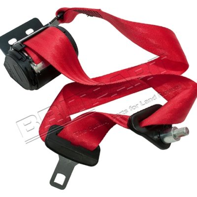 RED SEAT BELT RH TRUCK CAB DEFENDER FRONT